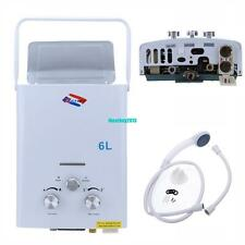 6L LPG Propane Gas Tankless Hot Water Heater Boiler Protable Home Oudoor Camper