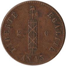 1846 Haiti 2 Centimes Coin KM#26