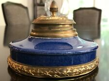 Antique Sevres French Porcelain Inkwell w/Ormolu Mounts  - Paul Milet