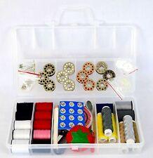 Sunbeam Hand Sewing Kit 100+ Pcs Crafts Mini Travel Sewing Supplies Bag Scissors