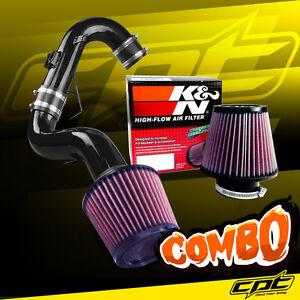 For 11-16 Scion tC 2.5L 4cyl Black Cold Air Intake + K&N Air Filter