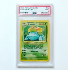 POKEMON BASE SET UNLIMITED VENUSAUR HOLO PSA 9 MINT POKEMON CARD RARE