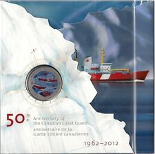 2012 50th Anniversary of the Canadian Coast Guard 25 Cent Coin