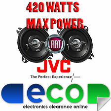 Fiat Punto 1999 - 2005 JVC 10cm 4 Inch 420 Watts 2 Way Rear Hatch Car Speakers