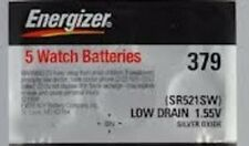 5 ENERGIZER SR521SW 379 Silver Oxide 1.55v Watch Batteries Aussie Stock