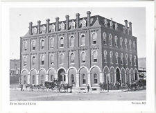 """*Postcard-""""5th Avenue Hotel""""(21 Chimneys*Stoves in Rooms/No Heat)*Topeka (#138)"""