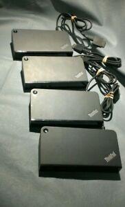 LOT of 4  Lenovo ThinkPad OneLink+ Plus Dock  Type 40A4  03X6396  03X6300