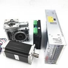 7.5:1 3Nm Nema23 Stepper Motor Drive kit &Power Supply Worm Gearbox L112mm CNC