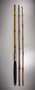 """Vintage/Antique 9' 4"""" Bamboo Pole Fishing Rod - 3 Section"""