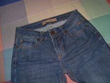 Bimba y lola vaqueros Jeans pantalones elasticos con logo delatero TALLA 36 medi