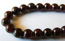50pcs 6mm Round Natural Gemstone Beads - Garnet
