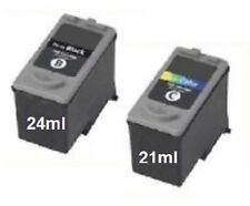 2 Ink Cartridges Set for Canon Pixma MP140 MP170 MP180 MP190 MP210/37 +38