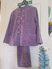 NWT - Womens Chinese Outfit ~ Mauve / Lavender Floral
