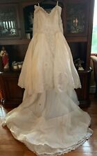 VINTAGE 1995 VICTORIAN Wedding dress Eve of Milady USA