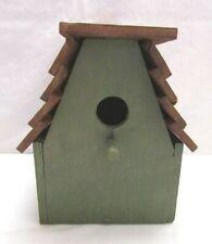 Green Wood Handmade Birdhouse