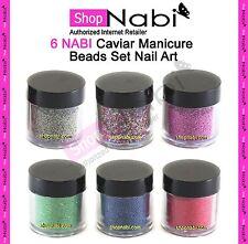 6 NABI Caviar Manicure Beads Set Nail Art