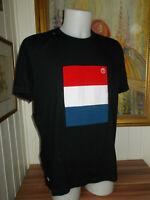 T- SHIRT noir drapeau Pays-Bas manche courte LACOSTE DEVANLAY  t.7 XXL