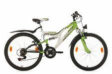 Mountainbike Fully 24 Zoll Zodiac Weiss-Grün MTB 18 Gänge RH 38 cm 633K