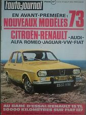 L'AUTO JOURNAL 1972 13 FIAT 127 PONTIAC FIREBIRD GP DE FRANCE GP EUROPE MUNICH