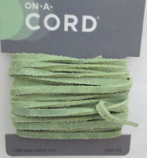 On a Cord 3mm Flat Suede Lace - 3 Yards Lt. green