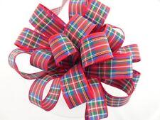 Berisfords R7622 * /7 | Royal Stewart Woven Tartan Ribbon More Than 24 Mm 25mm X 25m