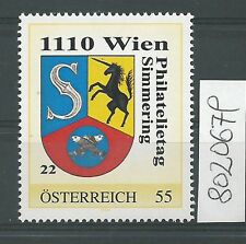 Österreich PM personalisierte Marke Philatelietag 1110 WIEN 8020679 **