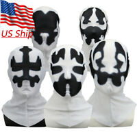 2019 New Watchmen Rorschach Hood Cosplay Superhero White Mask Balaclava Props