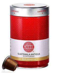 Caffè Ricci Nespresso Compatible Capsules - Guatemala Antigua (22 capsules)
