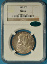 1957 Franklin Half Dollar NGC MS66- Exceptional Surfaces, Nice Tone, CAC