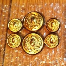 Coat Of Arms Crest Shield Blazer Button Set 6 For 2 Button Coat Engrv FF FT Or H