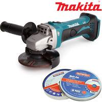 Makita DGA452Z 18V Li-Ion Angle Grinder Body With 10 x 1mm 115mm Multi Cut Discs