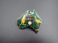 A.W.B.C Bowling Vintage Souvenir Badge Pin