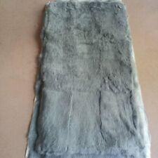 "43x22""Gray Rabbit Fur Rug Plate Real Rabbit Fur Blanket For garment Throw Carpet"