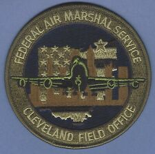 UNITED STATES FEDERAL AIR MARSHAL CLEVELAND OHIO FIELD OFFICE PATCH GREEN