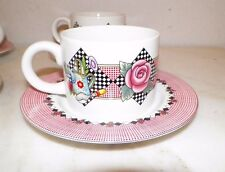 Sakura Stoneware Garden Time At Home With Mary Englebreit Four (4) Cups Saucers