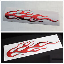 Car Motorcycle Bicycle Red Flame Individualized Reflective Sticker Graphic Decal