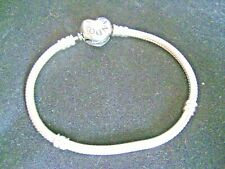 PANDORA MOMENTS STERLING SILVER HEART CLASP SNAKE CHAIN BRACELET