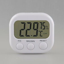 New 1PC Portable Digital Hygrometer Thermo Thermometer LCD w/ Stand White TA668