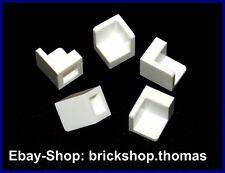Lego 5 x Ecke Winkelfliese weiß (1 x 1 x 1) 6231 Corner Panel white - NEU / NEW