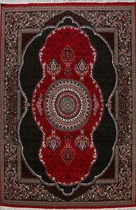 10x13 Floral Aubusson Oriental Turkish Area Rug Transitional RED/ BLACK Carpet
