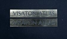 Visaton Atlas logo  2 Pcs 100 x 17 mm Self - adhesive