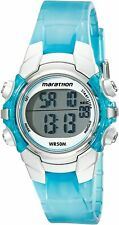 Timex Marathon Unisex Digital Watch - Light Blue/Silver-Tone Resin Strap T5K817