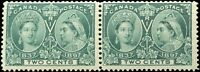1897 Mint NH Canada F PAIR Scott #52 2c Diamond Jubilee Issue Stamps