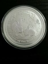 2011 lunar rabbit 2 oz silver bullion coin Perthmint S2