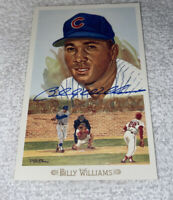 SIGNED AUTOGRAPHED BILLY WILLIAMS PEREZ STEELE CELEBRATION POST CARD CUBS