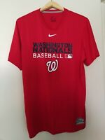 Nike Washington Nationals - Men's Red Dri-Fit Short Sleeve Shirt Sz M Medium