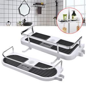 Shower Caddy Tray Holder Rack Organiser Bathroom Accessory Pole Shelf Storage