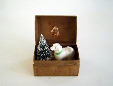WOLLSCHAF ERZGEBIRGE IM KASTEN - Krippe Weihnachten Puppenstube