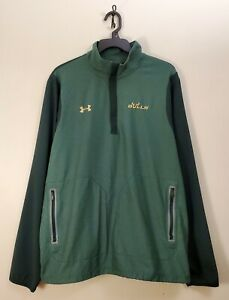 Under Armour USF South Florida Bulls Loose Fit 1/4 Zip Pullover Jacket XL EUC