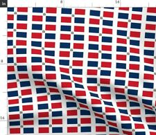 Dr Dominican Republic Flag Fabric Printed by Spoonflower Bty